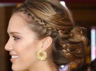 Peinado con trenzas especial para nochevieja