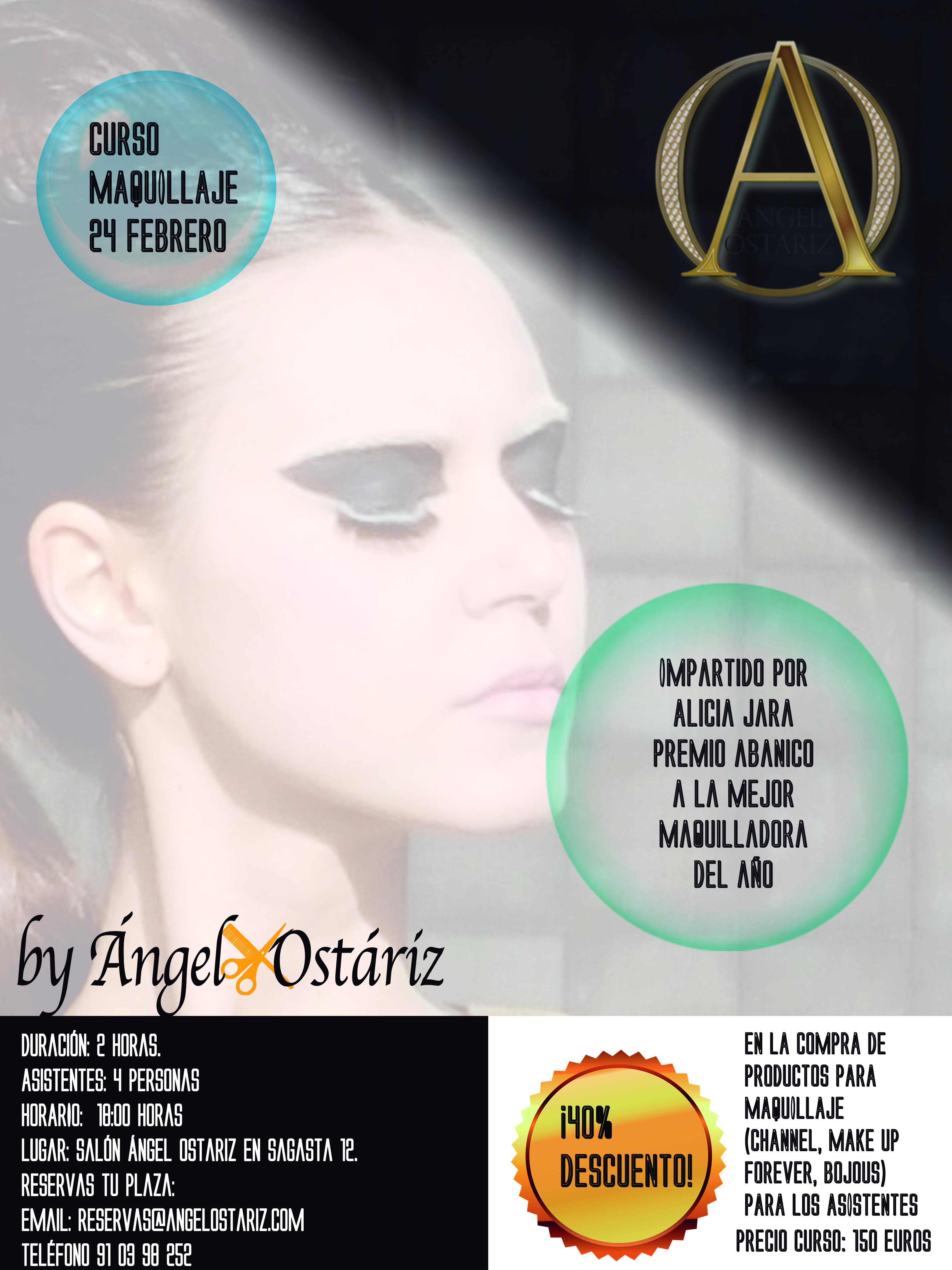 90baba255 Se trata de un curso de maquillaje profesional impartido por Alicia Jara,  premio abanico a la mejor maquilladora del año.
